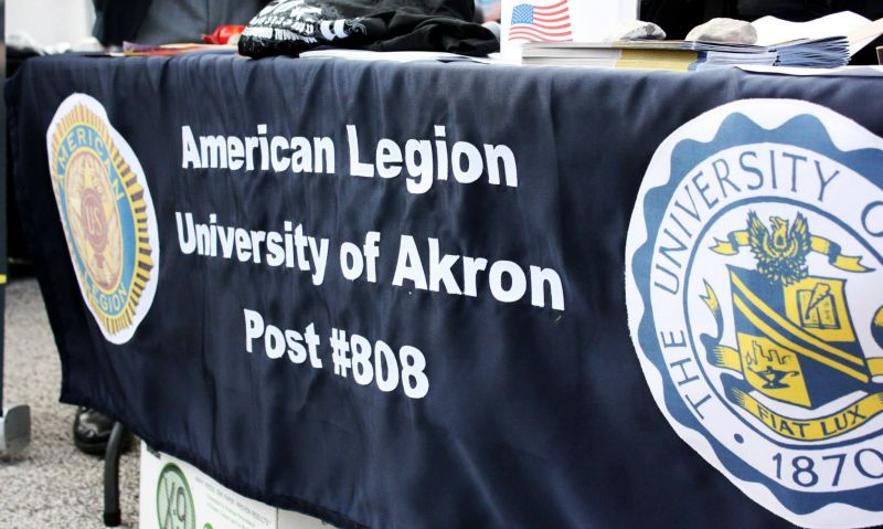 University of Akron veterans participating in suicide awareness walk