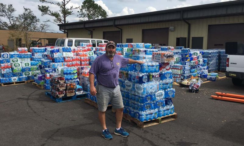 Legionnaire uses local post as relief drop-off for hurricane victims
