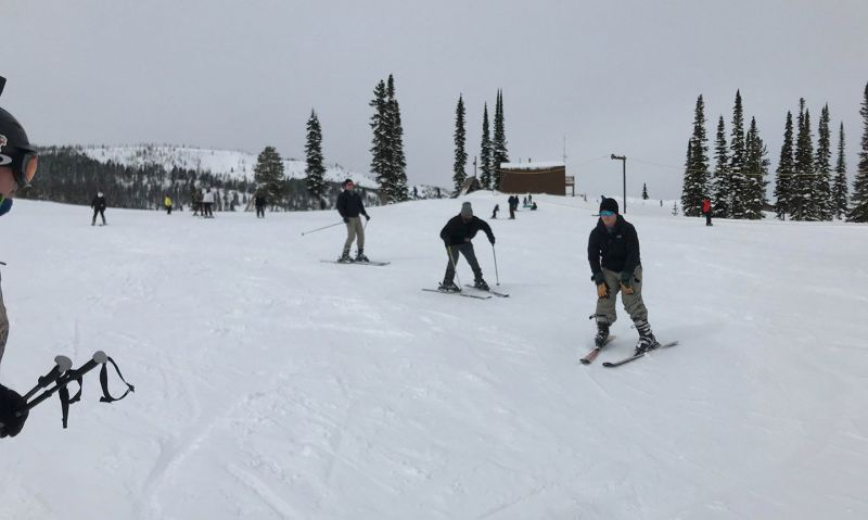 Active-duty troops hit the ski slopes with Montana Legionnaires