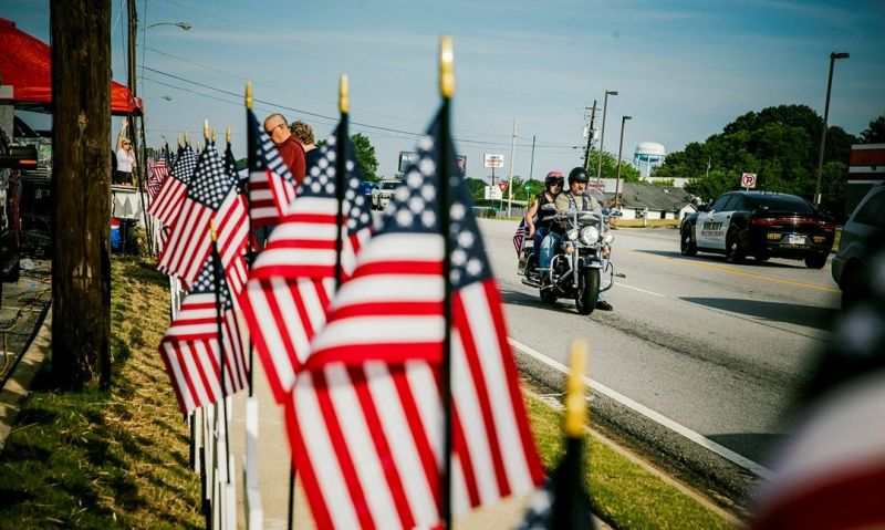 Ride for America's route of patriotism