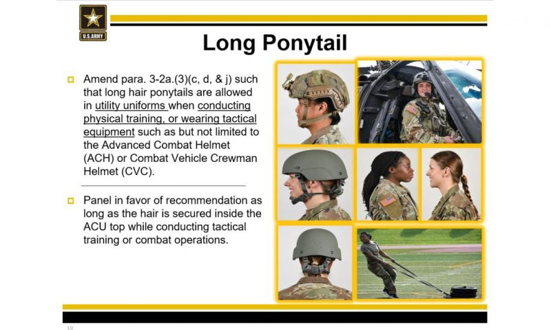 New Army grooming standards allow ponytails, buzzcuts for female soldiers