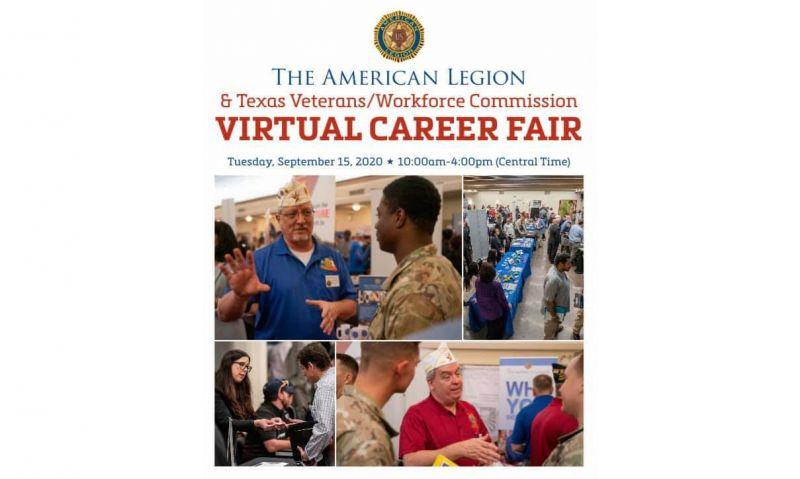 Department of Texas sponsoring Sept. 15 virtual job fair