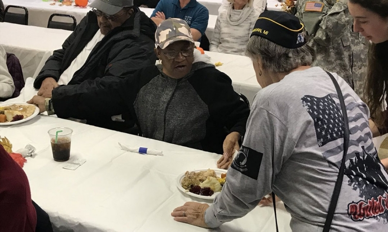 Giving back while giving thanks