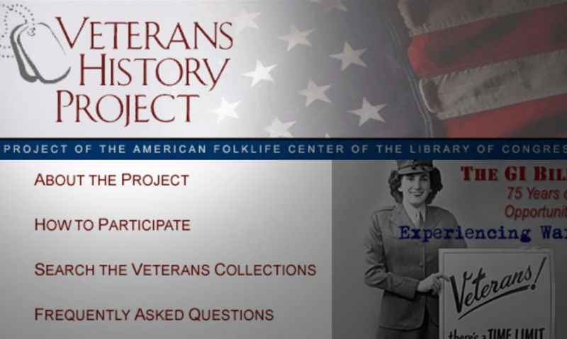 Veterans History Project event in Tennessee April 18-19