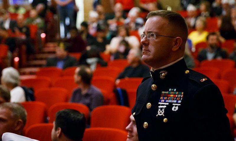 Veterans honored inside Indiana War Memorial