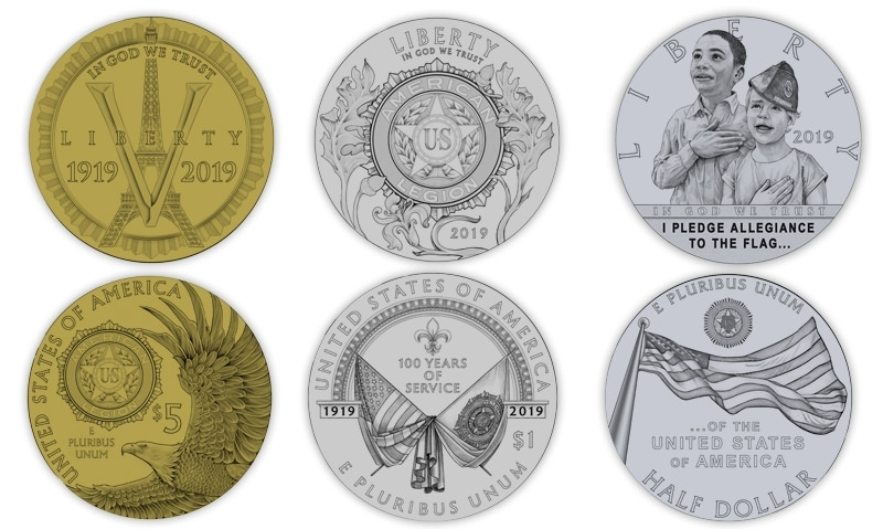 u s mint unveils legion centennial coin designs the american legion