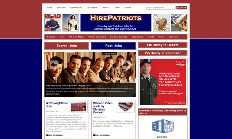 Help a veteran through Hire Patriots site