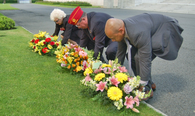 Commander honors fallen at Brittany