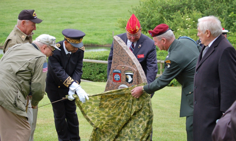 Commander unveils monument in Normandy