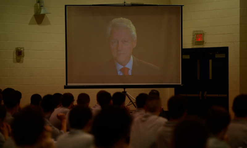 Clinton sends video address to Boys Nation