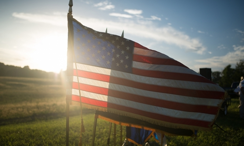 A flag of honor and respect