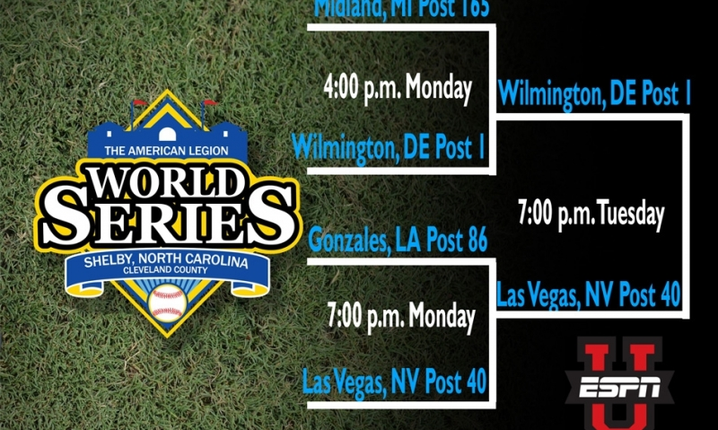 It's Nevada vs. Delaware for the American Legion World Series title