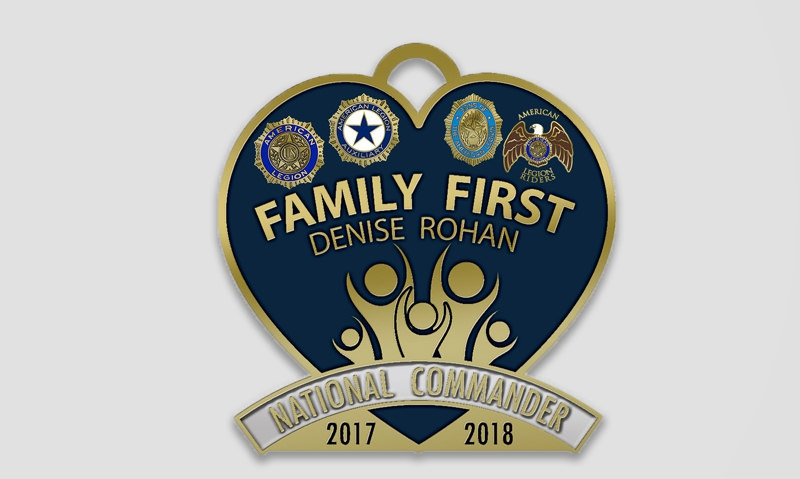 Commander's 'Family First' membership incentive pin still available