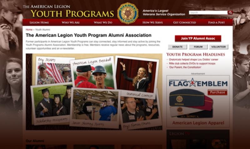 Legion youth alumni site