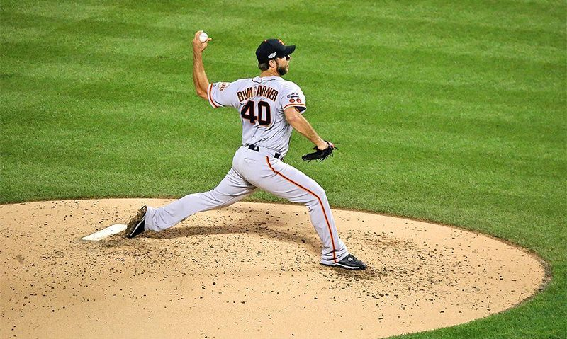 ALB alum Bumgarner throws 7-inning 'no-hitter'