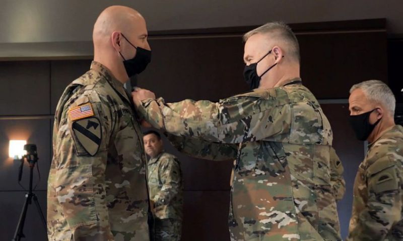 'No big thing': NCO earns Soldier's Medal after running into house fire to save woman and dog