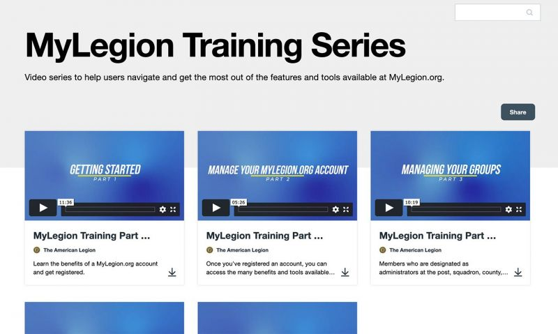 MyLegion.org videos answer sign-in questions, help manage your account