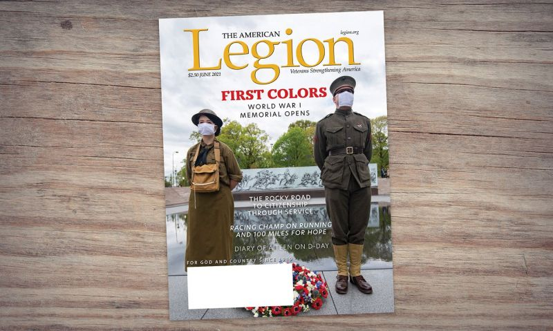 June American Legion Magazine spotlights citizenship through service, new National WWI Memorial