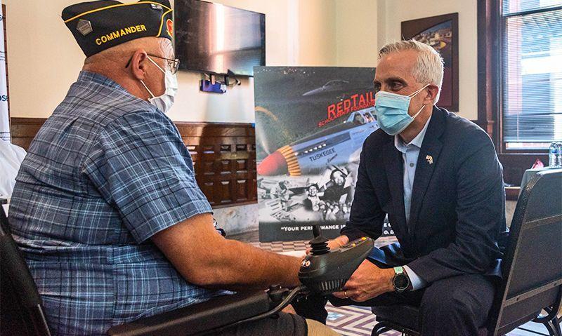VA Secretary visits American Legion COVID-19 vaccine clinic