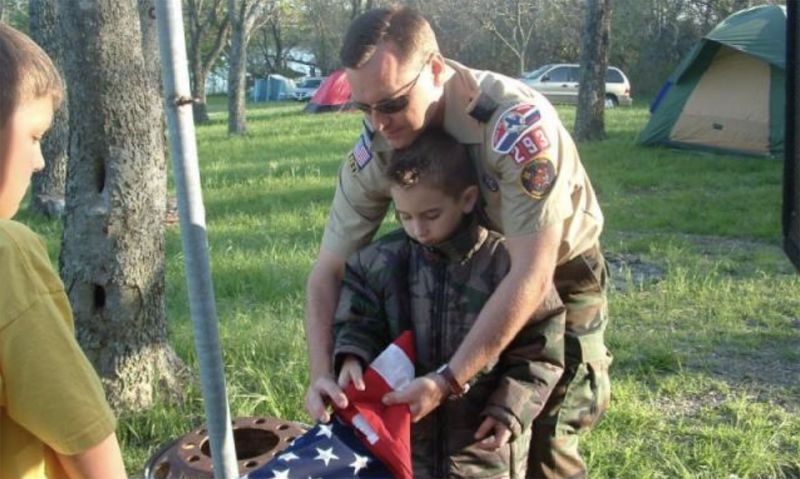 'Training the next generation' on flag respect