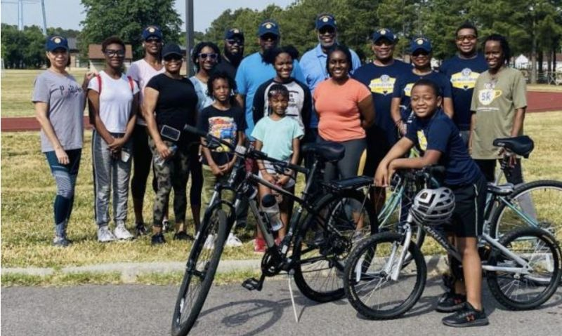 Virginia Post 1703 members and youth track 100 Miles for Hope
