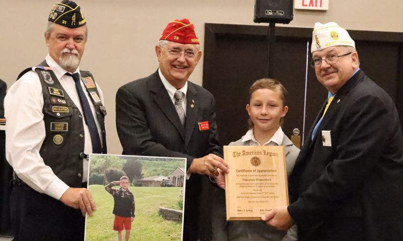 12-year-old's respect for veterans prompts honor from West Virginia American Legion