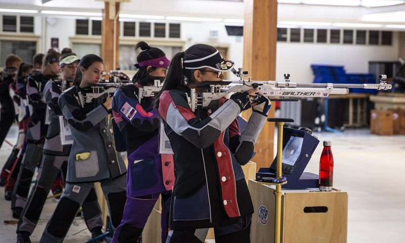 See live scoring, targets of Legion's air rifle championship