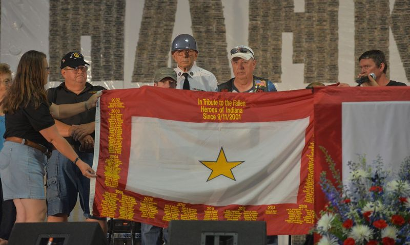American Legion stands side-by-side with Gold Star families
