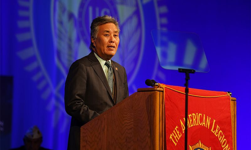 Takano urges Legionnaires to continue checking on fellow veterans