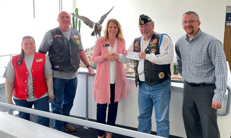 Wyoming Legion Riders chapter deliver assistance to student veterans