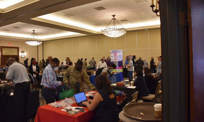 Hybrid career fair draws job seekers in person and online