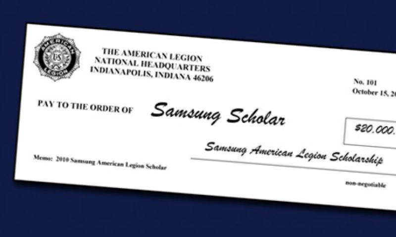 Ten students receive $20,000 Legion Samsung Scholarship
