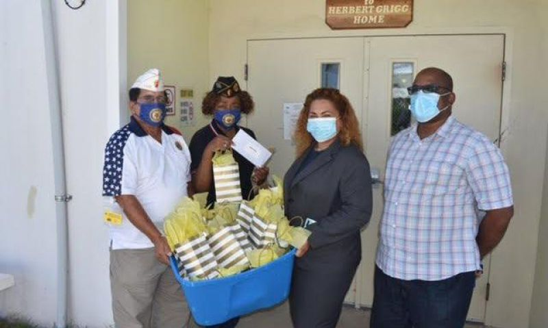 Legionnaires donate over 1,300 face masks to nursing staff