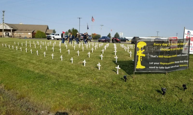 660 white crosses to adorn American Legion post lawn